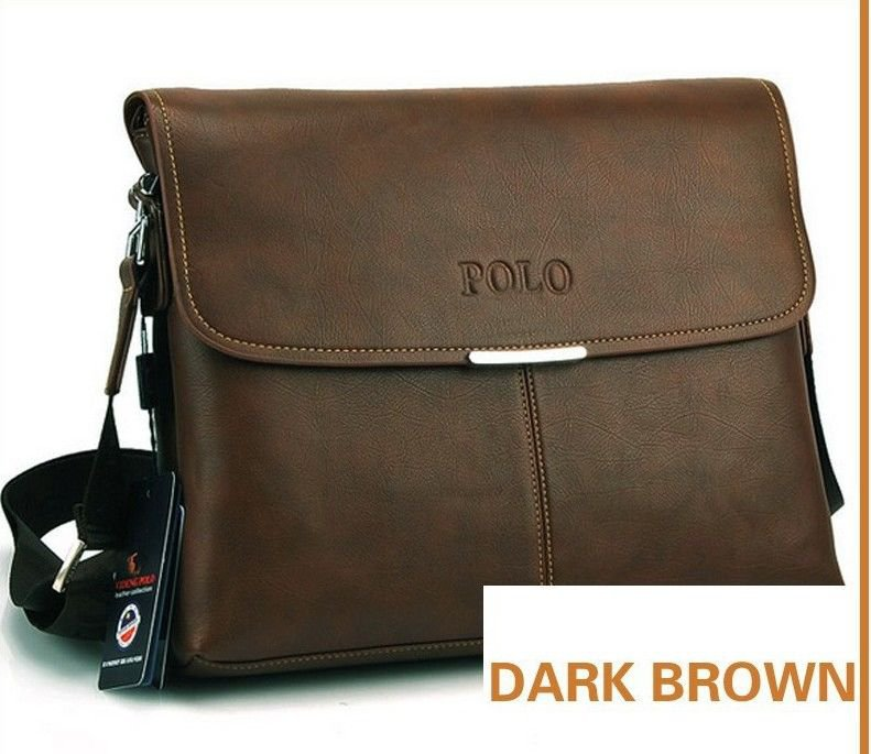 MENS DARK BROWN HANDBAG MESSENGER CROSS BODY SHOULDER BAG NEW