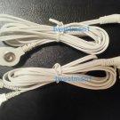 +BONUS Electrode Lead Wires/3.5mm male & 2 Snap Pads for Digital Massager TENS