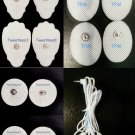 ELECTRODE LEAD CABLE(2.5mm)+4LG+4SM OVAL+4SM PADS FOR PALM/ECHO DIGITAL MASSAGER