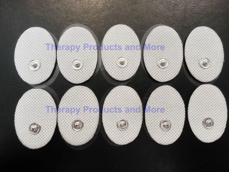 +Bonus+ OVAL Massage Pads (20) Electrodes for Digital Massager Massage TENS