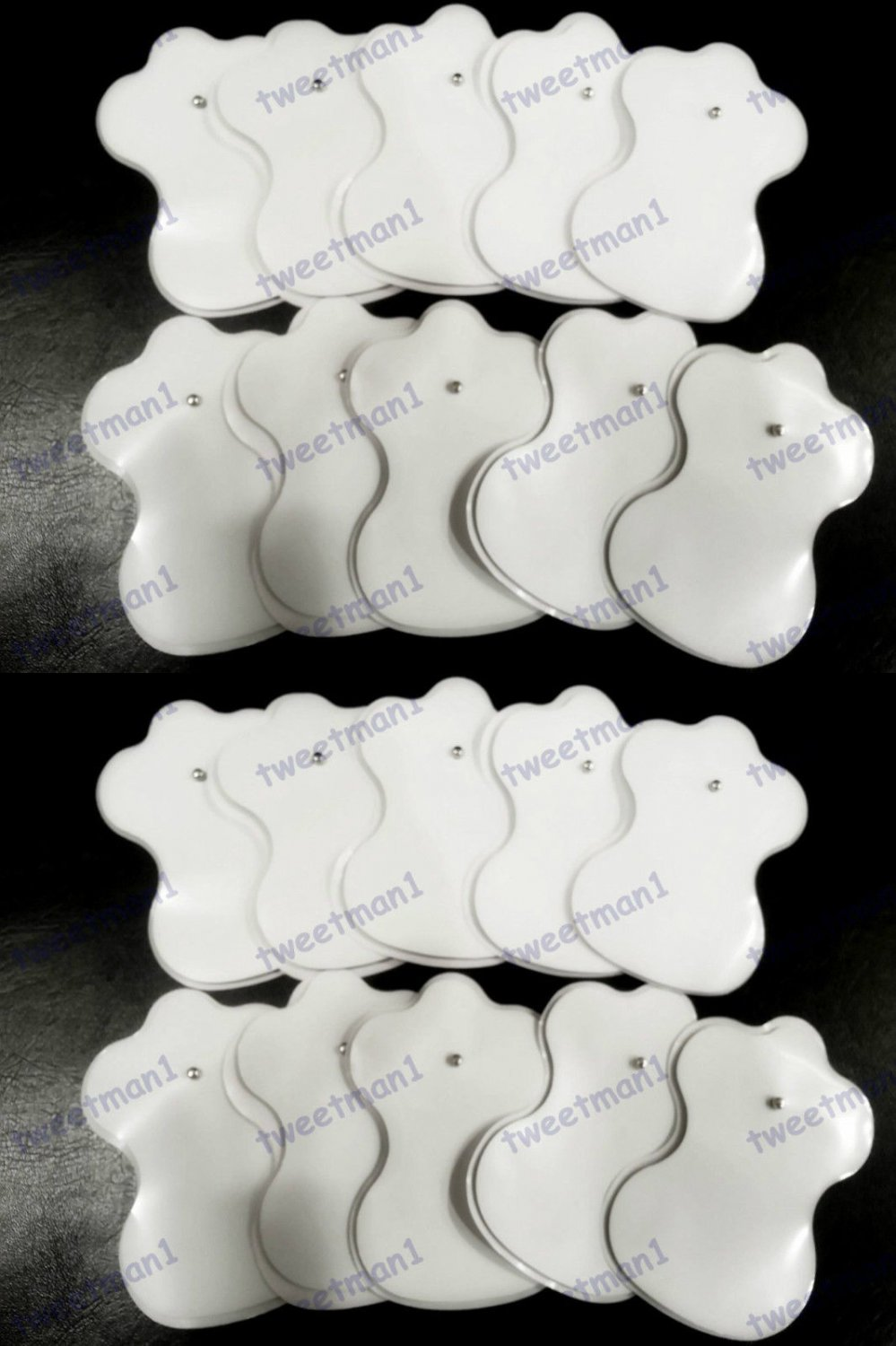 `Electrode Pads for Digital Massage (20) /TENS/Electronic Physiotherapy /Snap-on