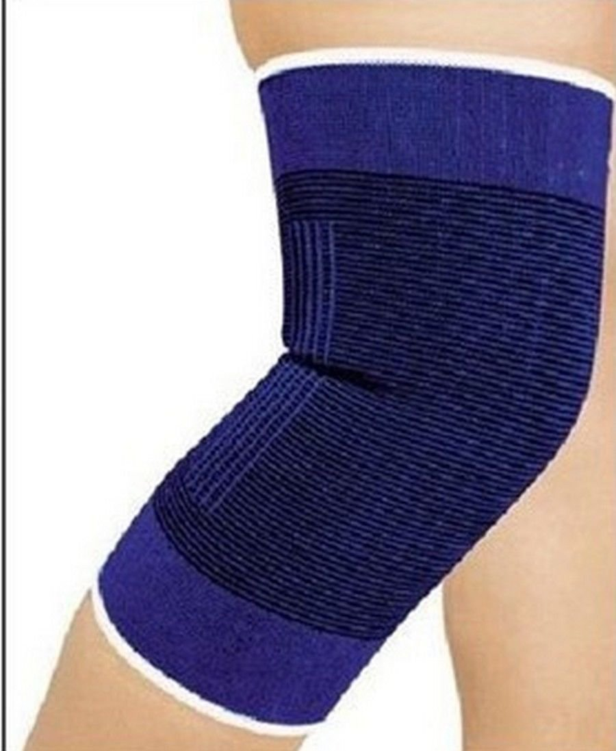 Pair Knee Support Compression Sleeve Blue New Light and Comfortable Design