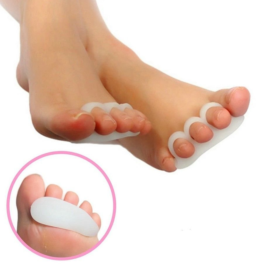 4 Gel Toe Separators Orthotics Stretchers Align Correct Overlapping Hammer Toes
