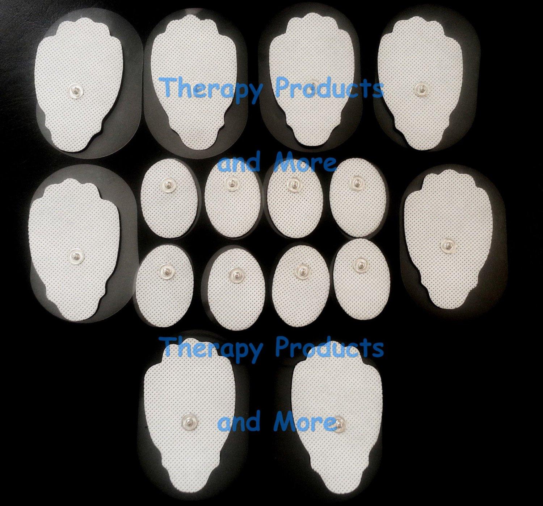 +BONUS!+ ELECTRODE PADS (8 LG, 8 SM CIRCLE) FOR DIGITAL THERAPY MASSAGER MACHINE