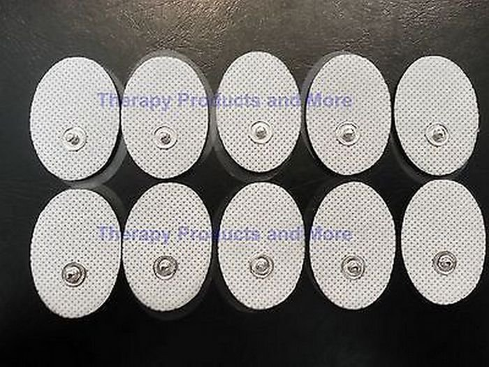 SMALL OVAL MASSAGE PADS ELECTRODES (10) FOR USE WITH DIGITAL MASSAGER TENS
