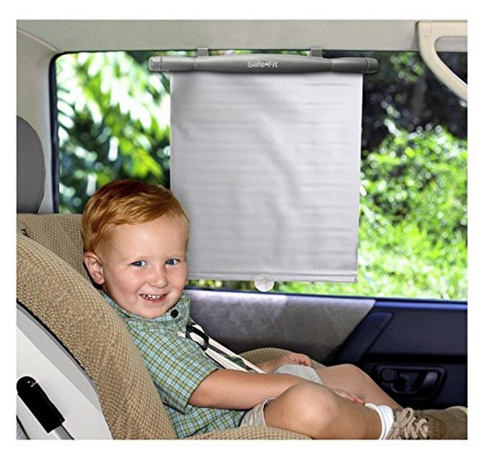Safe Fit Keep it Cool Reflective Window Shades 2 Pack Gray Silver