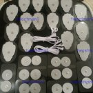 2 ELECTRODE LEAD CABLES (2.5mm) + PADS (16 LG, 16 SM) FOR TENS DIGITAL MASSAGER