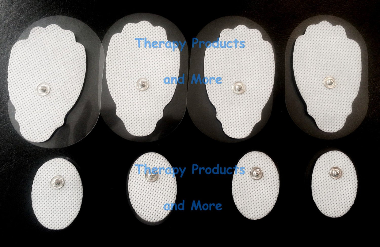 REPLACEMENT ELECTRODE PADS COMBO (4 LG, 8 SM OVAL) FOR ALL IQ DIGITAL MASSAGERS