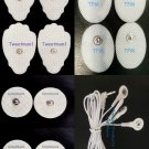 REPLACEMENT ELECTRODES/MASSAGE PADS w/4 WAY LEAD WIRE CABLE(3.5mm Plug)FOR TENS