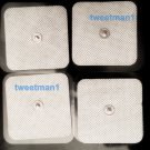 XL WIDE SQUARE SNAP ELECTRODE MASSAGE PADS (8) FOR DIGITAL MASSAGER, TENS, EMS