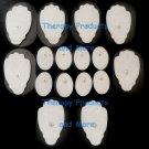 +BONUS!+ ELECTRODE PADS COMBO(8 LG, 8 SM CIRCLE)FOR MASSAGEO DIGITAL MASSAGER