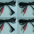4 TENS Unit Lead Wires FOR INTENSITY 10 TENS 3000 7000 iReliev ET-7070 ET-1313