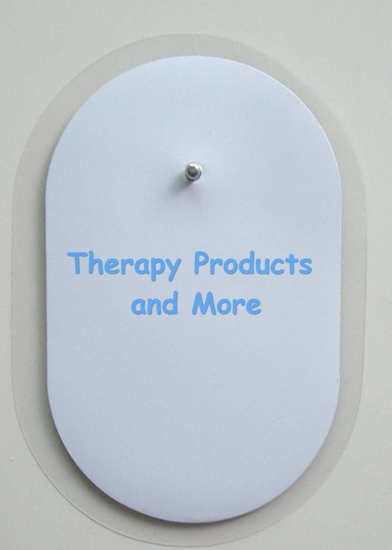 "12 Oval Electrodes Massage Pads 2 1/2""  X 1 1/2"" for Digital Massager Tens"