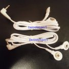 ELECTRODE LEAD WIRES Cables 2.5mm FOR DIGITAL MASSAGER One Pair Snap Connection