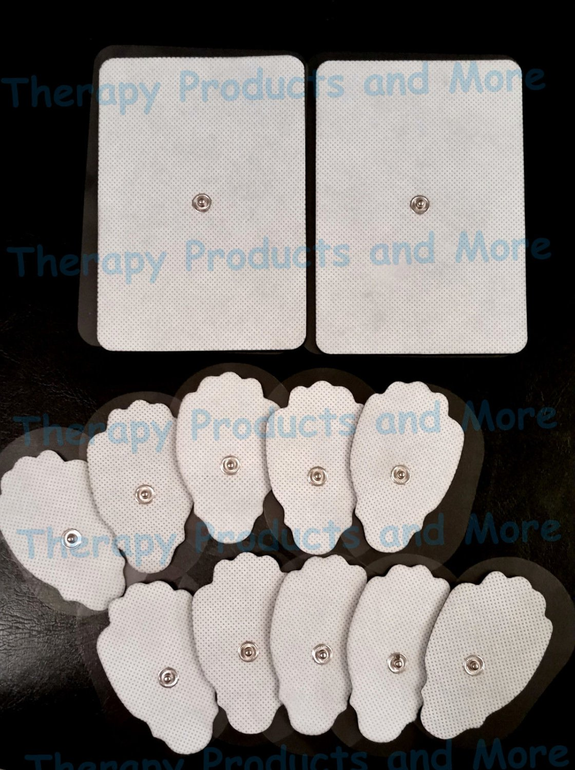 2 EXTRA LARGE + 10 LG MASSAGE PADS ELECTRODES FOR PINOOK IREST IQ PALM PCH TENS