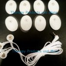 ELECTRODE LEAD CABLE- 4 WAY (2.5mm) +PADS (8 SM OVAL)for HEALTH HERALD  MASSAGER