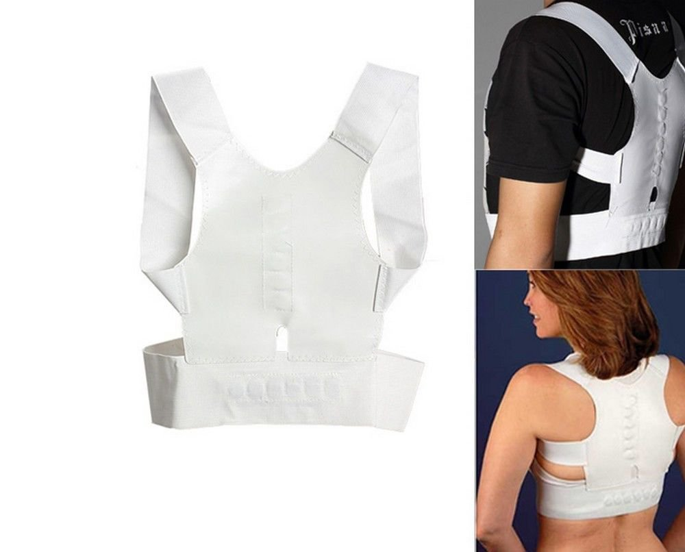 Adjustable Magnetic Posture Back Shoulder Corrector Support Brace Belt Therapy