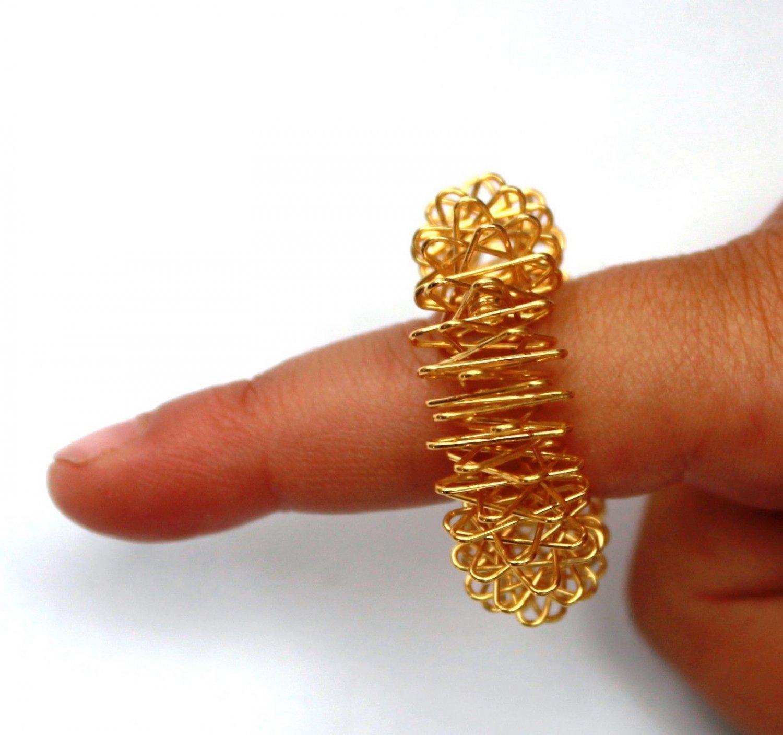 10 Acupressure Sujok (Su-Jok) Pain Therapy Finger Massagers Circulation Rings Lg
