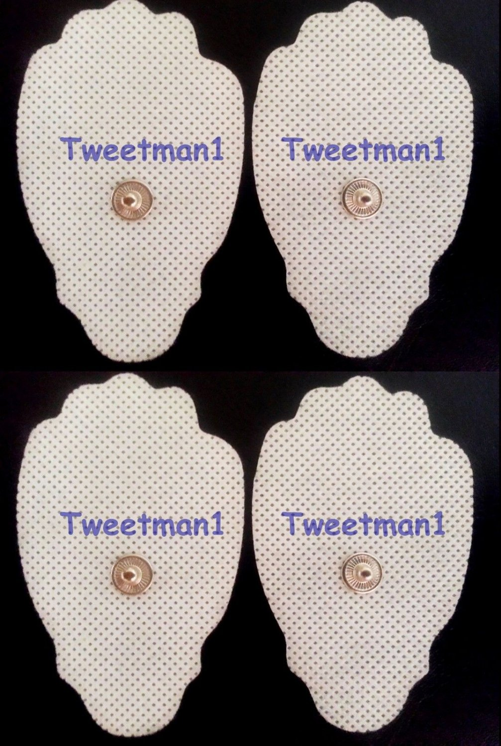Replacement Electrode Massage Pads (4) for T.E.N.S. Digital Pain Relief Device