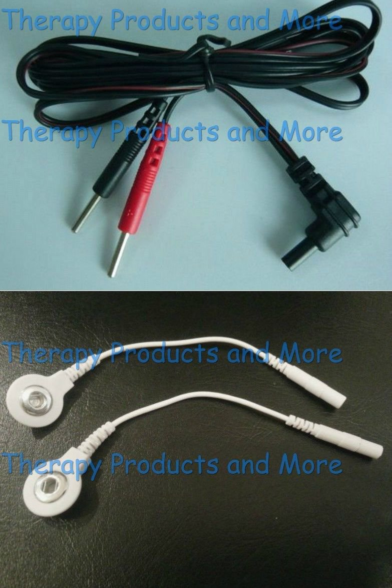 Replacement Cables for EMSI-2000 2001 2500 5000 Massagers-Use Snap OR Pin Pads!