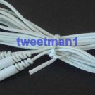 10 pcs/lot DC 3.5mm Electrode Wires Connector Cables Tens EMS Machine 2-pin