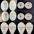 MASSAGE ELECTRODES GEL PADS (4 LG+4SM+4SM OVAL) COMPATIBLE w/ ELIKING MASSAGER