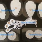 ELECTRODE LEAD CABLE (2.5mm) + PADS (4 LG, 4 SM) FOR TENS, ELECTROTHERAPY, IFC