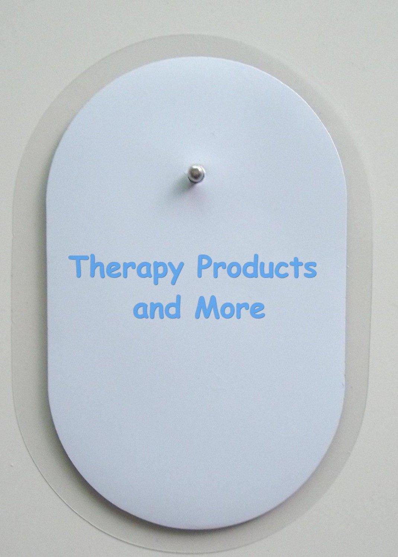 "20 Oval Electrodes Massage Pads 2 1/2""  X 1 1/2"" for Digital Massager Tens"