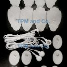 2 ELECTRODE LEAD CABLE(3.5mm)+MASSAGE PADS (8LG+8OVAL) FOR ELECTROTHERAPY TENS