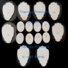 REPLACEMENT ELECTRODE PADS COMBO (8 LG, 8 SM OVAL) FOR TENS, ELECTROTHERAPY, EMS