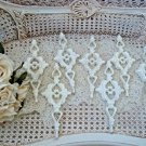 SHABBY FRENCH ORNATE SET OF 7 LARGE ORNAMENTS ***SO CHIC***