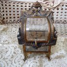 EXQUISITE OLD FRENCH STYLE JEWELRY BOX TRINKET BOX VITRINE ***BEAUTIFUL***
