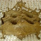 BEAUTIFUL FRENCH ORNATE HEAVY METAL LETTER HOLDER FROM FRANCE
