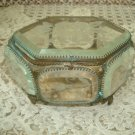 EXQUISITE LARGE ANTIQUE FRENCH CASKET BOX ORMOLU JEWELRY BOX FROM FRANCE
