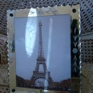 SHABBY VINTAGE ETCHED MIRROR WITH FANCY EDGE  PICTURE FRAME #2  **BEAUTIFUL***