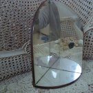 GORGEOUS SHABBY OLD MIRRORED SHELF FOR STATUE ***FABULOUS***