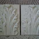 TWO SHABBY ACANTUS LEAF WALL PLAQUES