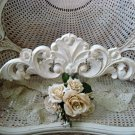 SHABBY BEAUTIFUL FRENCH SHELL PEDIMENT HEADER **GREAT OVER A DOORWAY OR MIRROR**
