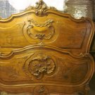 GORGEOUS RARE ORNATE ANTIQUE FRENCH BED HEADBOARD AND FOOTBOARD ****MUST SEE****