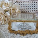 Gorgeous Antique French Jewelry Box Casket Box Ormolu Vitrine