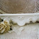 GORGEOUS FLEUR DE LIS SHABBY FRENCH ORNATE PAINTED WALL SHELF *** SO PRETTY***