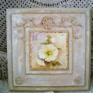 SHABBY FRENCH COUNTRY CHIC FLOWERS PLAQUE #2 ***UNIQUE***