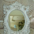 Shabby Vintage Ornate Mirror With Roses