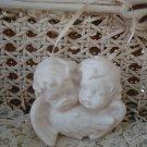 Beautiful White Vintage Angel Cherub Ornament **SO CUTE**