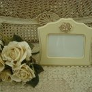 "SHABBY FRENCH ROSES  6"" x 4"" PICTURE FRAME ****SO PRETTY****"