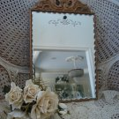 BEAUTIFUL OLD SHABBY FRENCH ORNATE SHELL ETCHED MIRROR UNIQUE ***SO CHIC***