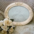 SHABBY FRENCH ORNATE CHIC OLD OVAL PICTURE FRAME VANITY TRAY ****SO CHARMING****