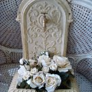 SHABBY METAL ORNATE GARDEN FOUNTAIN ****BEAUTIFUL****