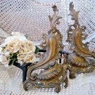 OLD FRENCH ANDIRONS FOR FIREPLACE PURCHASED IN FRANCE **GORGEOUS**