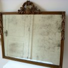 X-LARGE OLD SHABBY WOODEN  WALL MIRROR WITH SILVER LOSS  ****SO BEAUTIFUL***